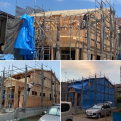 E市にて新築戸建て駆体工事