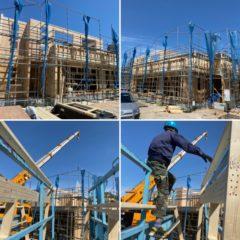 4月10日 新築工事の建て方のお手伝いして来ました。