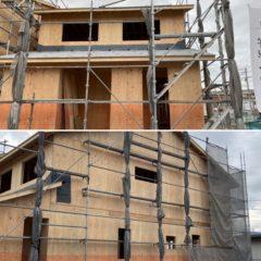 新築戸建て2×4工法建て方完了